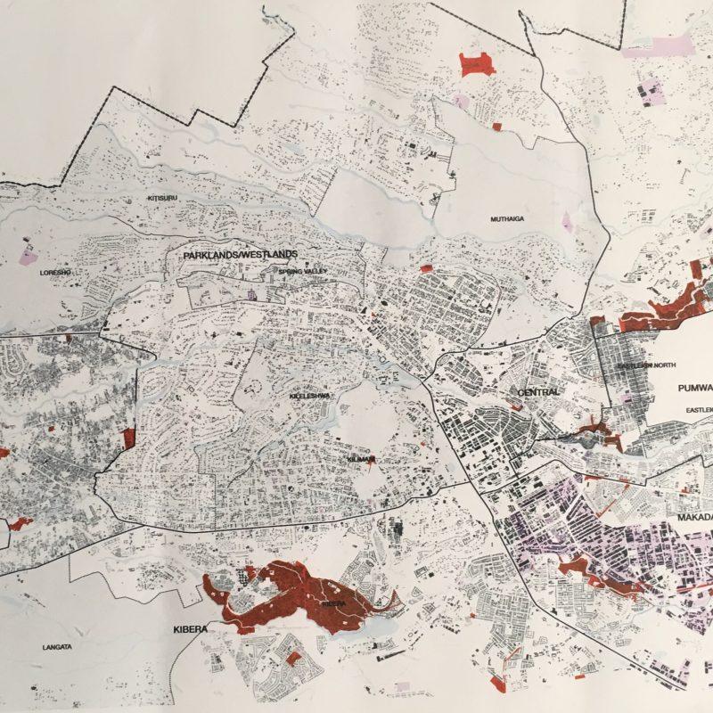 Mapa de los slums de Nairobi